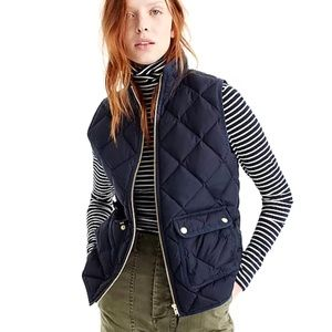 J.Crew Sz XS NWT Excursion Quilted Down Vest Navy
